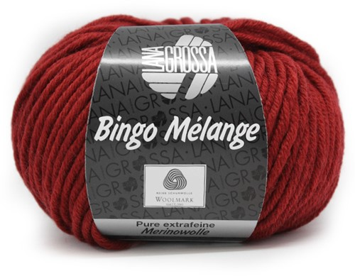 Lana Grossa Bingo Melange 226 Dark Red Mottled