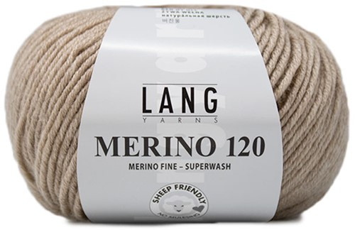 Lang Yarns Merino 120 226 Beige Mélange