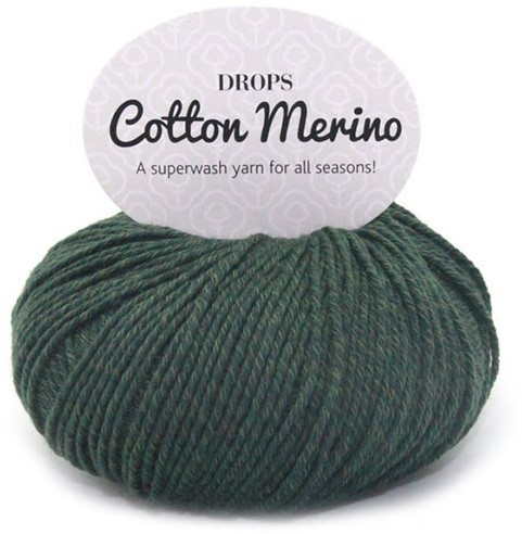 Drops Cotton Merino Uni Colour 22 Dark Green