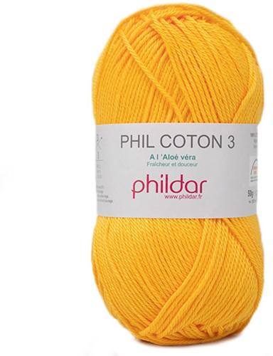 Phildar Phil Coton 3 2317 Jaune d'Or