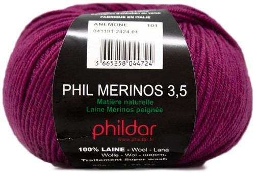 Phildar Phil Merinos 3.5 2424 Anemone