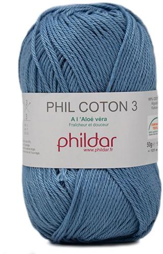Phildar Phil Coton 3 2433 Océan