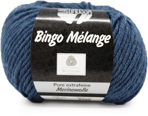 Lana Grossa Bingo Melange 244 Dark Blue Mottled
