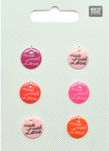 Rico Button Set Red Mix