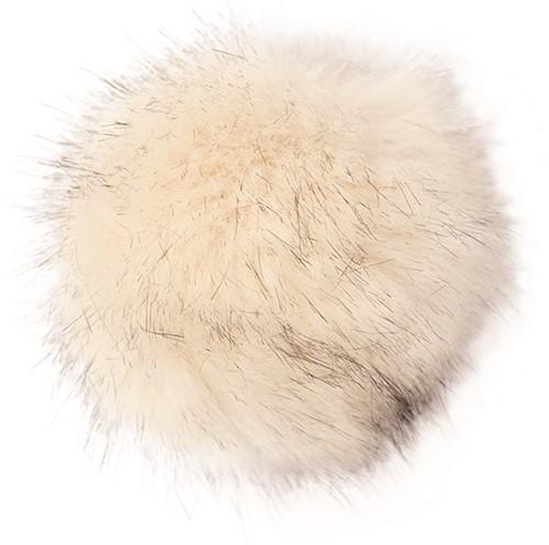 Rico Fake Fur Pompon Medium 24 Creme-Black