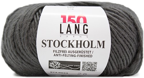 Lang Yarns Stockholm 24 Grey