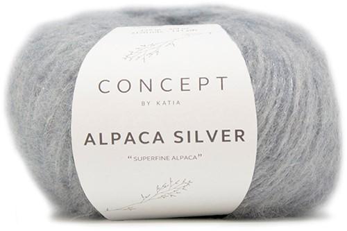 Katia Alpaca Silver 253 Pastel blue silver