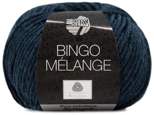 Lana Grossa Bingo Melange 255 Black / Blue Mottled