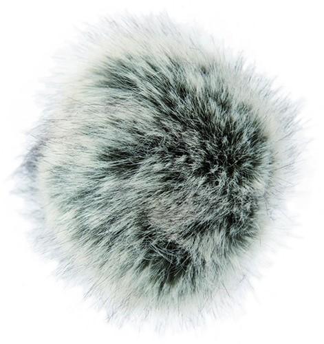 Rico Fake Fur Pompon Medium 25 Black-Ecru