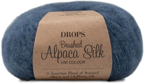 Drops Brushed Alpaca Silk Uni Colour 25 Steel Blue