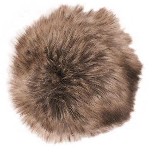 Rico Fake Fur Pompon Medium 26 Brown-Cinnamon