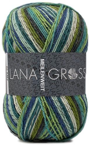 Lana Grossa Meilenweit 100 Glamy 2713 Green/Blue/Mint