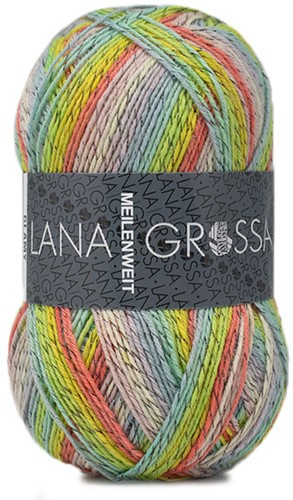 Lana Grossa Meilenweit 100 Glamy 2714 Light Rainbow