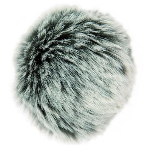 Rico Fake Fur Pompon Medium 27 Grey-Silver