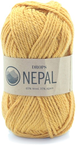 Drops Nepal Uni Colour 2923 Goldenrod