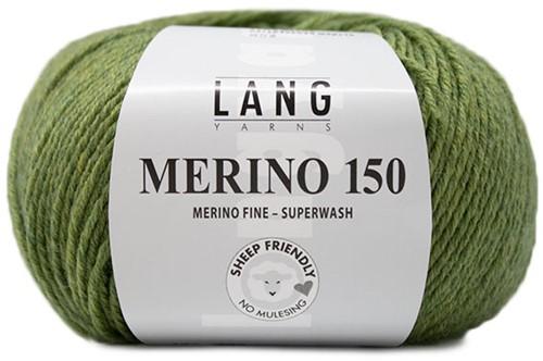 Lang Yarns Merino 150 297 Light Olive Mélange