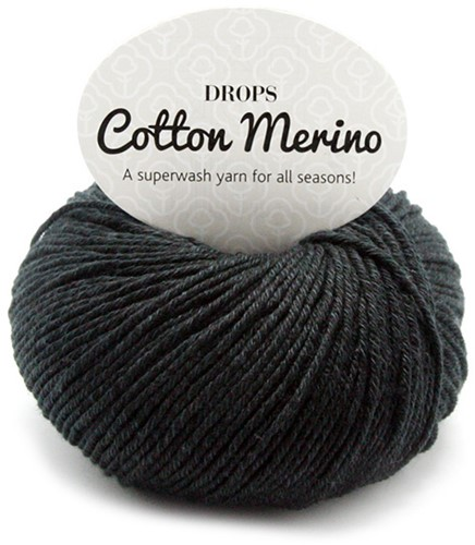 Drops Cotton Merino Uni Colour 2 Black