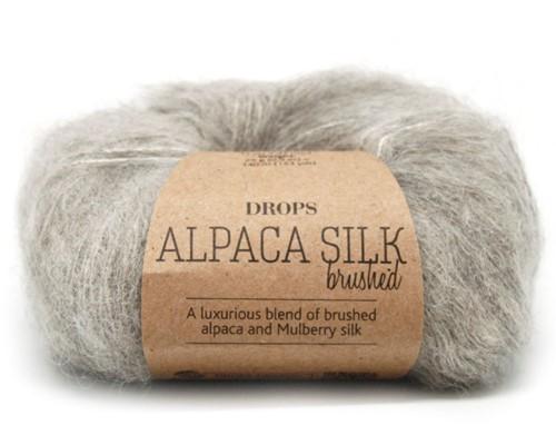 Drops Brushed Alpaca Silk Uni Colour 02 Light-grey