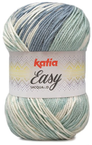 Katia Easy Jacquard 303 Green/Water Blue
