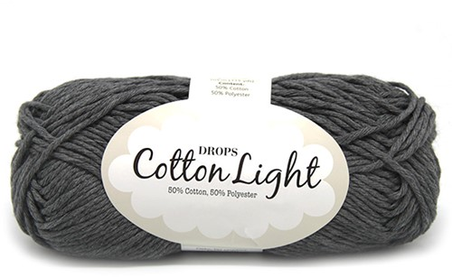 Drops Cotton Light Uni Colour 30 Dark-grey