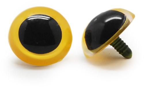 Plastic Safety Eyes Basic Yellow (per pair) 30mm