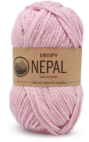 Drops Nepal Uni Colour 3112 Powder Pink
