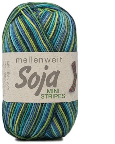 Lana Grossa Meilenweit 100 Soja Mini Stripes 328