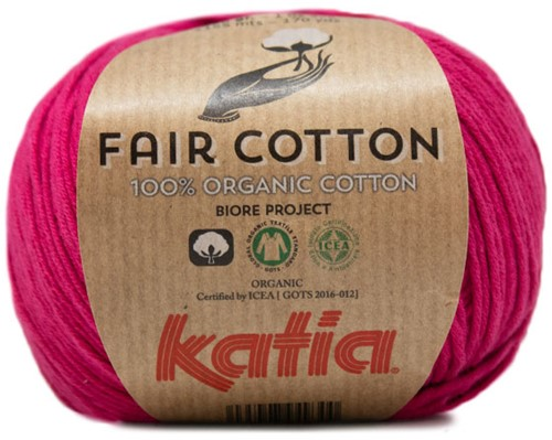 Katia Fair Cotton 32 Raspberry Red