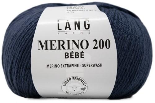 Lang Yarns Merino 200 Bebe 334 Dark Jeans