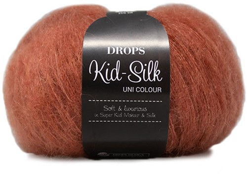 Drops Kid-Silk Uni Colour 33 Rust