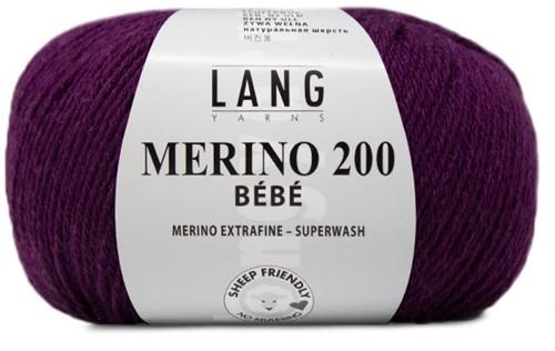 Lang Yarns Merino 200 Bebe 347 Purple