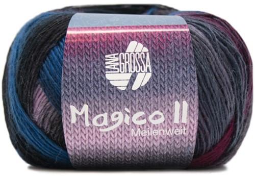 Lana Grossa Magico Ii 3563 Blue Purple Bordeaux
