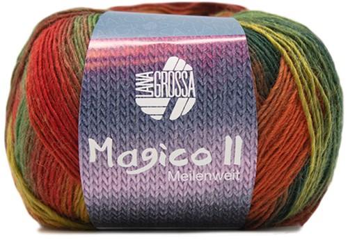 Lana Grossa Magico Ii 3564 Red Orange Green