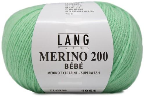 Lang Yarns Merino 200 Bebe 358 Light Green
