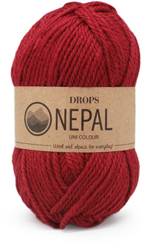 Drops Nepal Uni Colour 3608 Deep Red