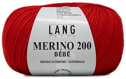 Lang Yarns Merino 200 Bebe 360 Red