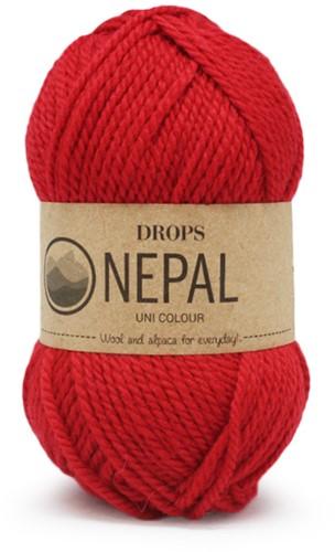 Drops Nepal Uni Colour 3620 Red