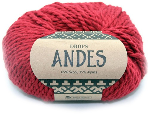 Drops Andes Uni Colour 3946 Red