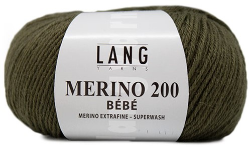 Lang Yarns Merino 200 Bebe 398 Olive