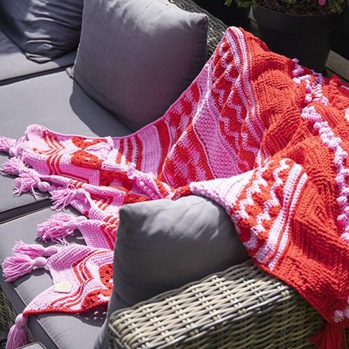 Summer Dream Blanket 4.0 Crochet Kit 3 Cotton Candy & Pepper