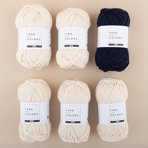 Yarn and Colors Striped Jumper Knit Knit 3 M Dark Blue