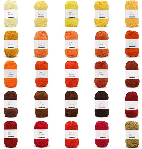 Yarn and Colors Must-Have 25 Colors Yarn Pack 4 Tequila Sunrise