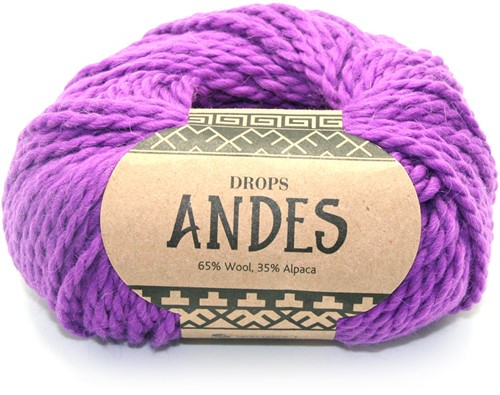 Drops Andes Uni Colour 4066 Purple