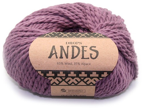 Drops Andes Uni Colour 4300 Old Pink