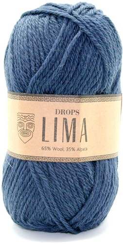 Drops Lima Uni Colour 4305 Dark blue