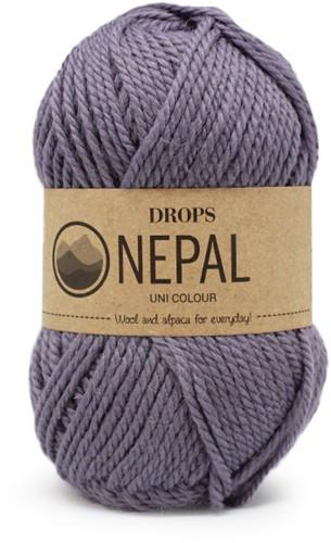 Drops Nepal Uni Colour 4311 Grey/Purple