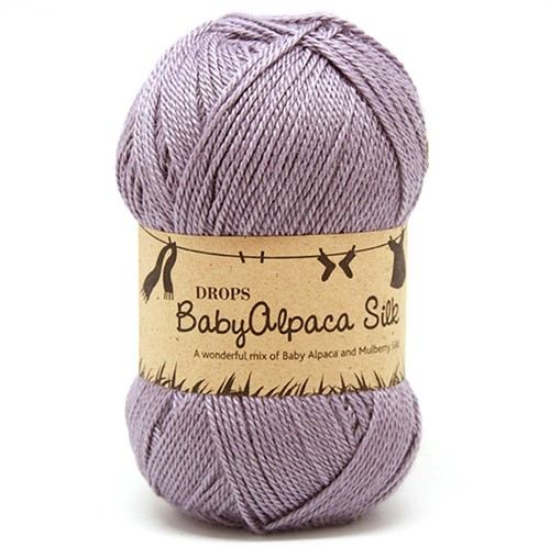 Drops BabyAlpaca Silk Uni Colour 4314 Grey-purple