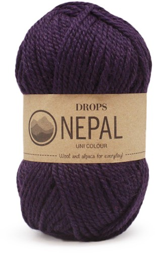 Drops Nepal Uni Colour 4399 Dark Purple