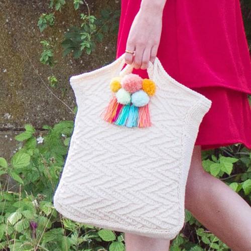 Knitting Pattern Fabulous Zigzag Bag