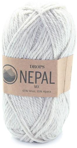 Drops Nepal Mix 500 Light Grey